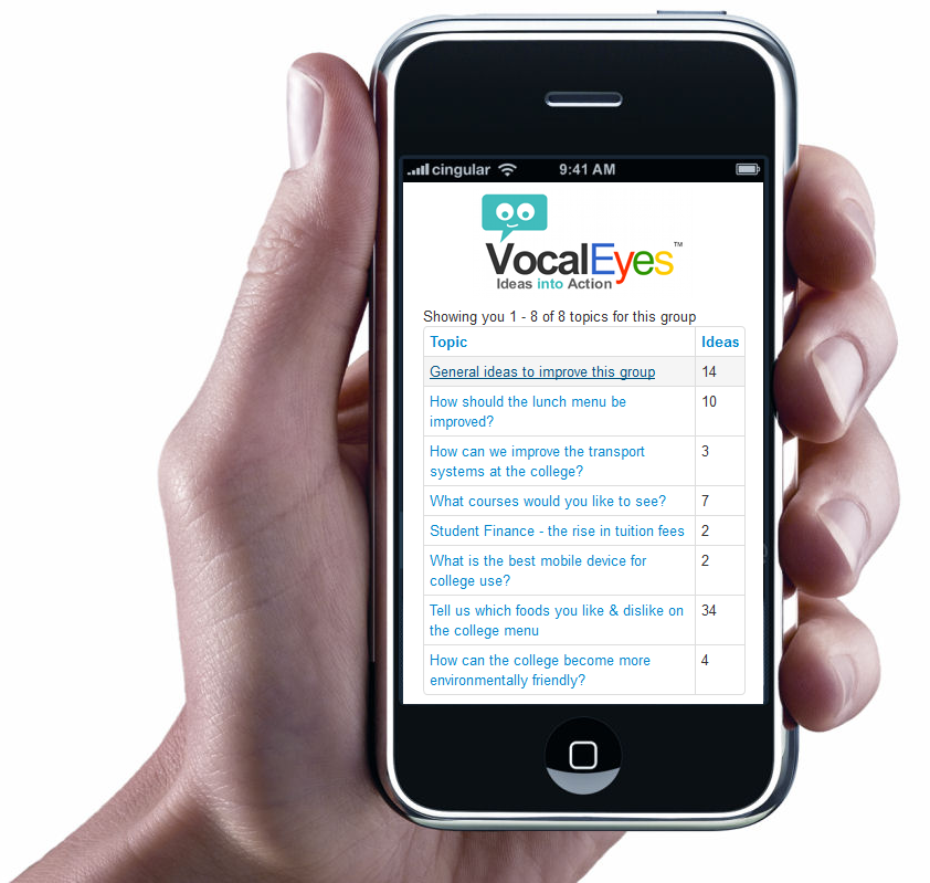VocalEyes on your Smartphone!