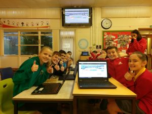 Glyncollen Primary, Student Council using VocalEyes for Pupil Voice