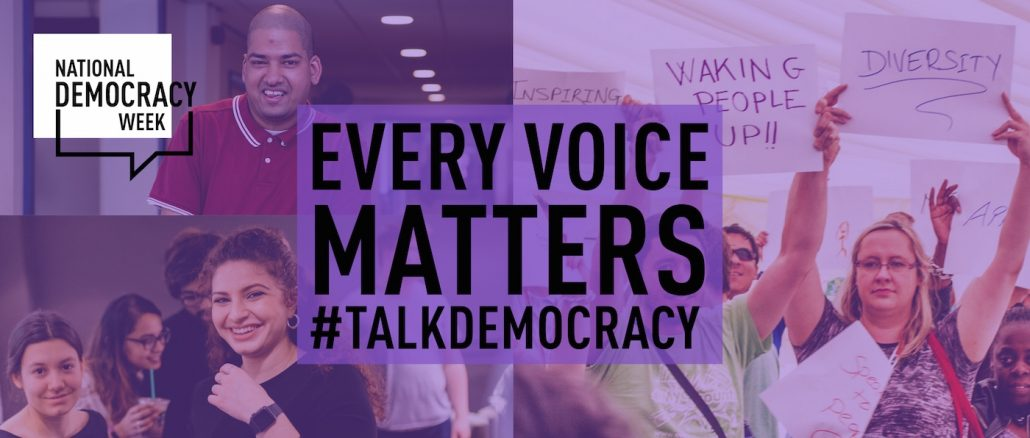 Democracy Week - Every Voice Matters