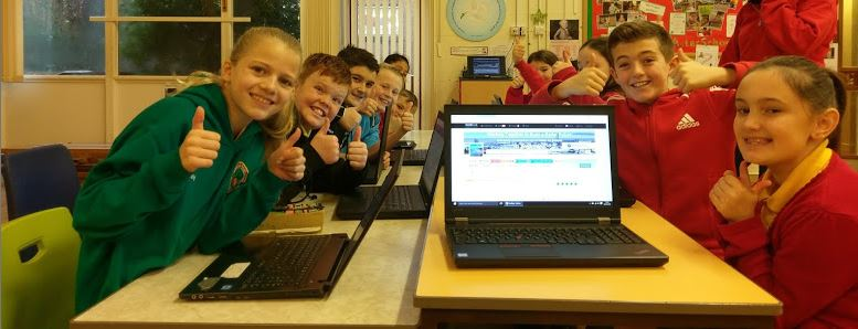 Glyncollen Primary school council using VocalEyes for Pupil Voice