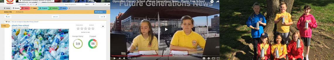Glyncollen Primary Going Plastic Free